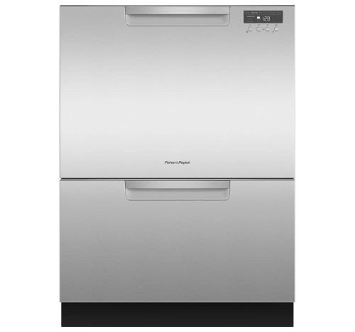 Fisher & Paykel Double Drawer Tall Dishwasher - Stainless Steel with Recessed Handle