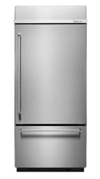 "KitchenAid 36"" Width Built-in Stainless Bottom Mount Refrigerator"