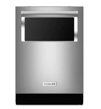 KitchenAid® 44 dBA Dishwasher with Window and Lighted Interior - Stainless Steel