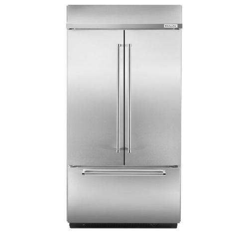 "KitchenAid® 24.2 Cu. Ft. 42"" Width Built-In Stainless French Door Refrigerator"