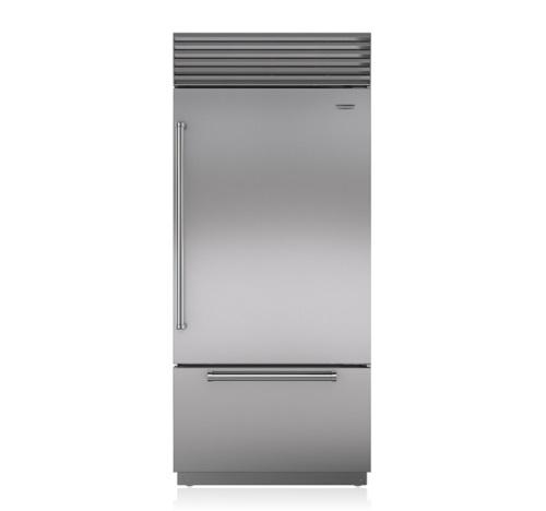 "Sub-Zero 36"" Over Under - Refrigerator/Freezer - Stainless W/ Tubular Handle"