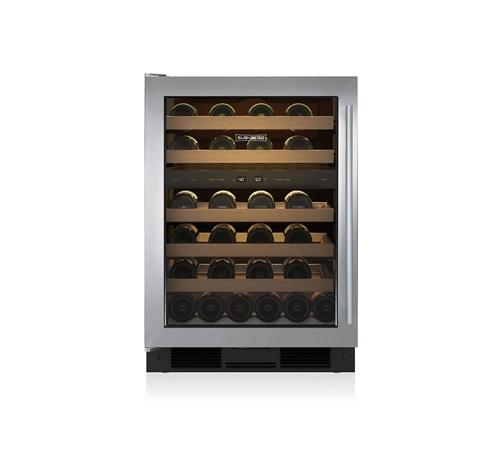 "Sub-Zero 24"" Under the Counter Wine Storage - Stainless W/Pro Handle and Glass Door"