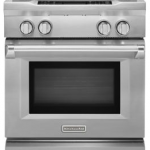 KitchenAid® 30-Inch 4-Burner Dual Fuel Freestanding Range, Commercial-Style